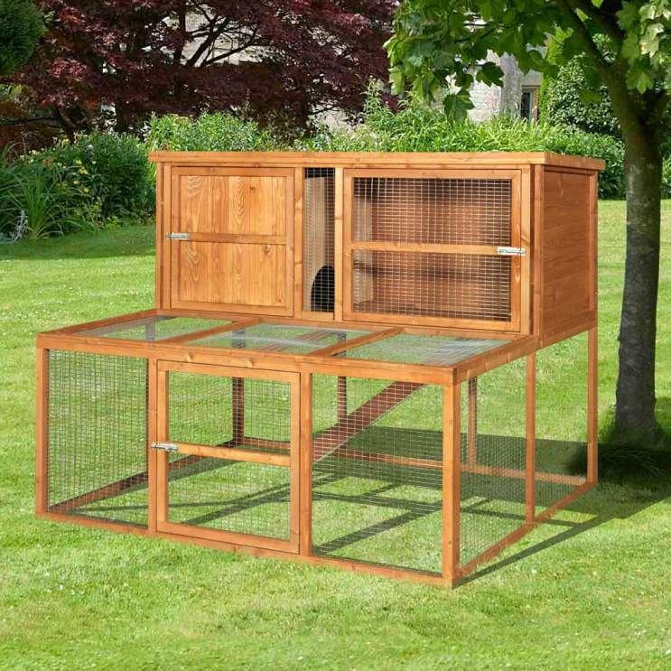 how to clean a rabbit hutch