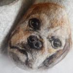 felt art dog sculpture