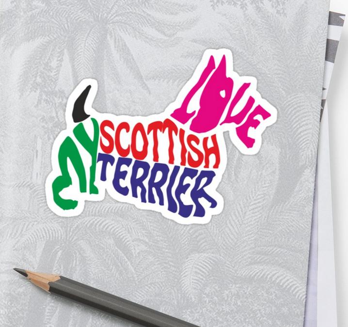 I love my Scottish Terrier sticker