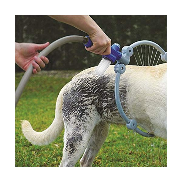 dog bathing cleaner with 360° shower tool
