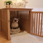 oak dog crate